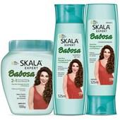 Kit Babosa Condicionador + Shampoo + Creme de Tratamento
