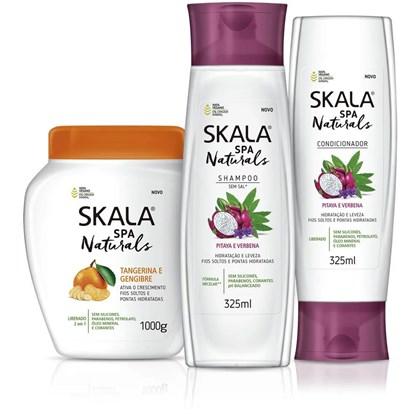 Kit Shampoo e Condicionador Pitaya e Verbena mais Creme de Tratamento Tangerina e Gengibre