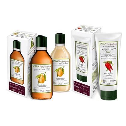 Kit Shampoo e condicionador Yellow Pear + máscara Pepper Force